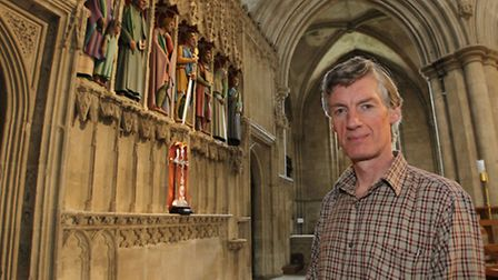 Sculpture Rory Young in St Albans Abbey and his new sculptures