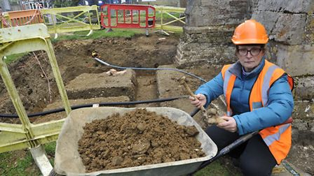 Alconbury Rev Mary Jepp is heartbroken that builders have discovered hundreds of skeletons in the ch