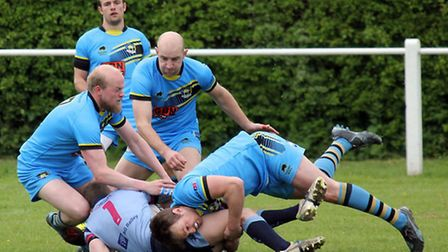 Action from Cents' pre-season match with the RAF. Picture: Daryl Brown