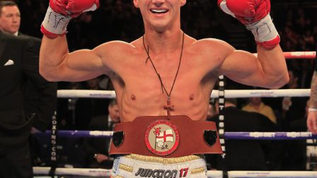 English light-welterweight champion Tommy Martin. Picture: Laurence Lustig.