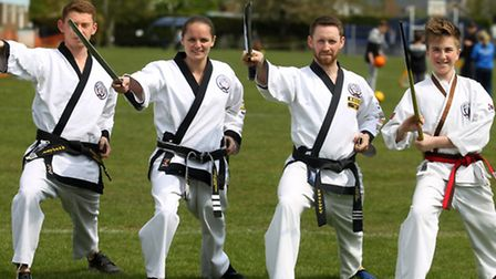 Phillip Sutton, Sarah Chapman, Robbie Tyler and Gabriel Howlett from Tang Soo Do