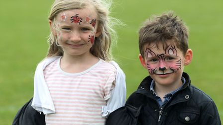 Holly, 6, and Liam Mander, 4