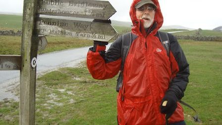 Terry Holden on the Pennine Way on April 25, 2015