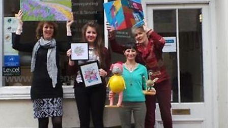The artists, pictured from left to right are Rachel Fry, Emily Cook, Nursel Darroux and Vivienne Mac