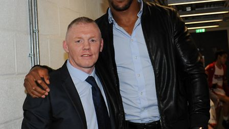 Anthony Joshua and Sean Murphy. Picture: Arif Gardner of AG Studios