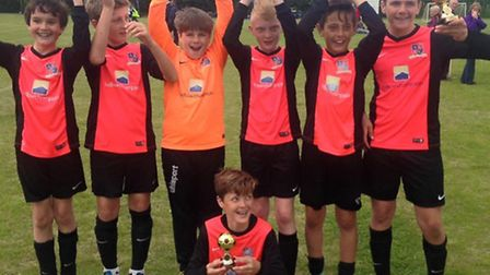 Alocnbury Under 12s won their age group at the Sawtry junior tournament.