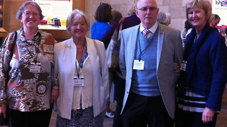 Helen Yon from Letchworth, Iris Cannon, Michael Wilkinson and Liz James from Buntingford.