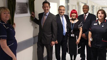 The opening of the new critical care unit at Hinchingbrooke Hospital