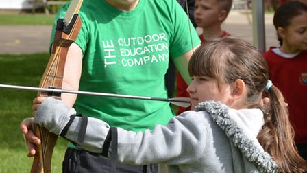 Action from the archery