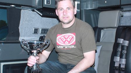David Barnes, winner of the Modified Vehicle section, with his 2003 converted V.W. Camper Van, which