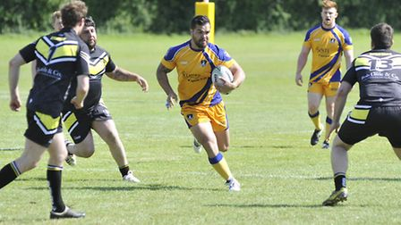 Skipper Mickey Blackley returned with a try for St Ives Roosters.