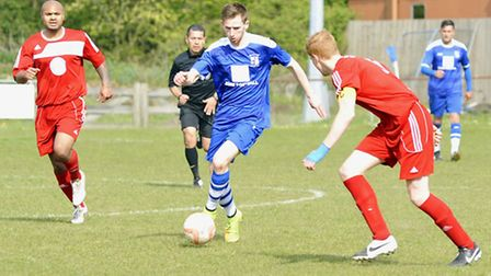 St Neots have made an offer for Godmanchester Rovers striker Tom Meechan. Picture: HELEN DRAKE.
