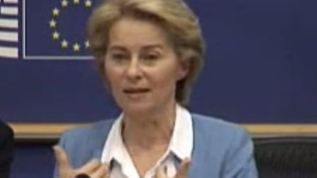 Ursula von der Leyen, tipped to be the next chief of the EU Commission, talking about Brexit. Pictur