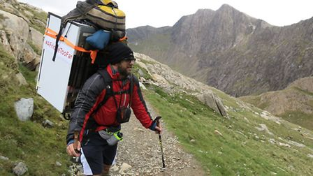 Matt Fisher and Mark Colombus from Photographic Synergy climb Mount Snowdon for Project Harar