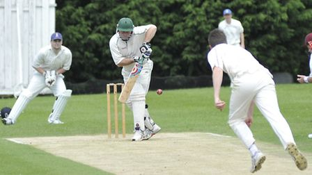 Steve Dighton hit a century for Bluntisham 2nds. Picture: HELEN DRAKE.
