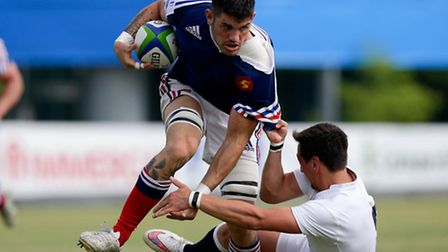 Lucas Bachelier in action for France. Picture: World Rugby