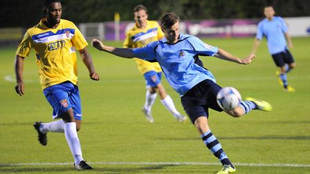 David Keenleyside put in an excellent performance against Staines Town. Picture: Bob Walkley