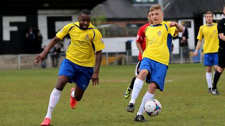 Jack Green links up with Michael Malcolm. Picture: Leigh Page