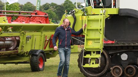 Local farmer Simon Parish demonstrates latest state of the art farming technology. Picture: Clive Po