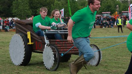 Young farmers out to win in the Wacky Races. Picture: Clive Porter.