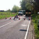 A road is blocked due to a fallen tree. Picture: HELEN DRAKE