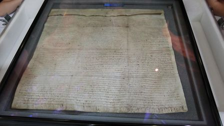 The Magna Carta placed at St Albans Abbey