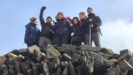 Team at the top of Snowdon