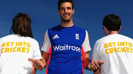 LONDON, ENGLAND - APRIL 21: Steven Finn of England and Middlesex poses during the Launch of ECB's