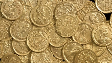 The Roman gold coins