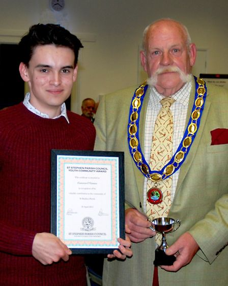 St Stephen parish council recognised individuals who have made exceptional contribution: Cameron O'C