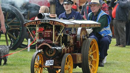 A steam engine at the St Albans Steam and County Show