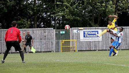 Loick Pires scored the second goal of the afernoon. Picture: Leigh Page