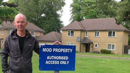 Cllr John Morris wants the homes at Brampton to be occupied.