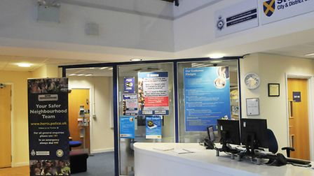 The Herts Constabulary section in the council chambers