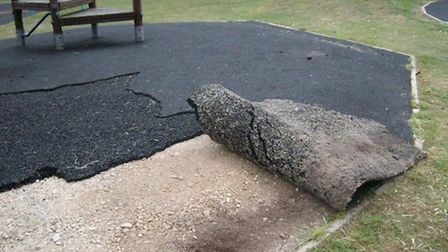 North Herts District Council has condemned the 'thoughtless actions' of those who ripped up part of