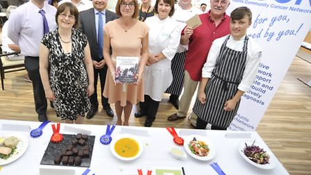 HCCN community cooking final presentation, at Hinchingbrooke Hospital, some of the winners, with Chi