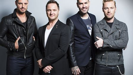Boyzone are appearing at Newmarket Racecourse