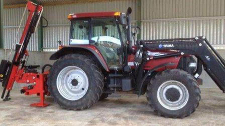 The red Case MXM 155 tractor was taken from a barn at Hyde Hall Farm, Sandon, between 7pm last night