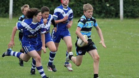 Action from St Albans Centurions U13s win over Eastern Rhinos.