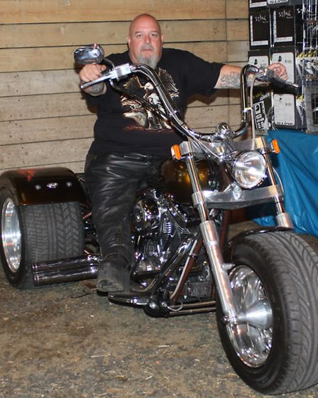 This resplendent exhibit in the Trike section is owned by Geoff Eason from Takeley, Essex, and boast