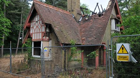 The Gate house at Oaklands College which was subject to an arson attack on bonfire night last year
