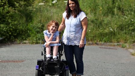 Julie Copeland with her daughter, Courtney, 6