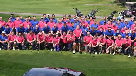 The charity golf day went down a storm.