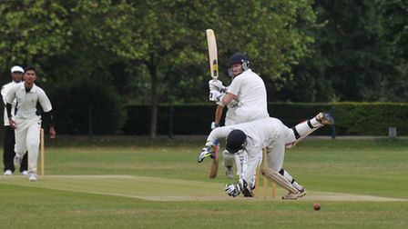Sam Kindlen clips one down leg side past the wicket keeper
