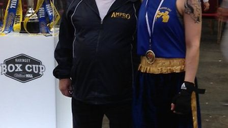Becky Stone with St Albans and London Colney ABC president John Murphy.