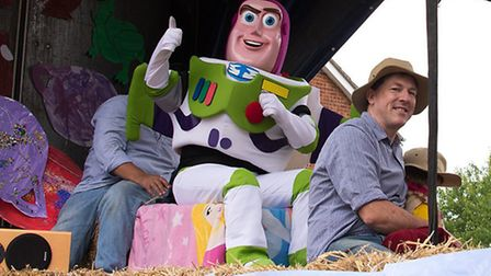 Somersham Carnival, Buzz Lightyear on the First Step Playgroup float