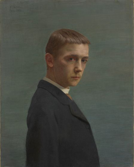 Felix Vallotton, Self-portrait at the Age of Twenty 1885. Oil on canvas, Credit: Nora Rupp, Musee ca