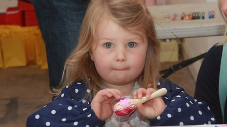 4-year-old Sofia Hale decorates her maraca. PICTURE: Supplied.
