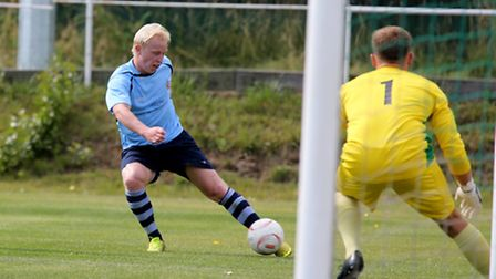 Lewis Hilliard scored in both halves for the Saints. Picture: Leigh Page