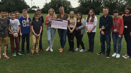 A charitable bunch: Melbourn Youth Club raised loads of dosh for charity.